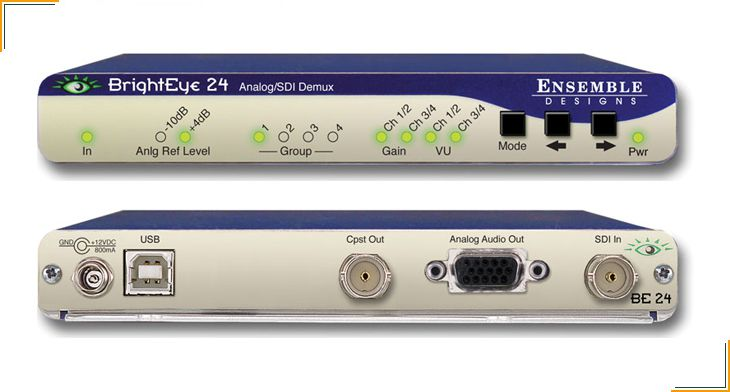 Ensemble Designs BrightEye Audio Embedders, Disembedders, and Converters