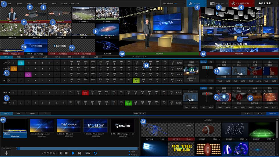NewTek TriCaster 8000 Interface